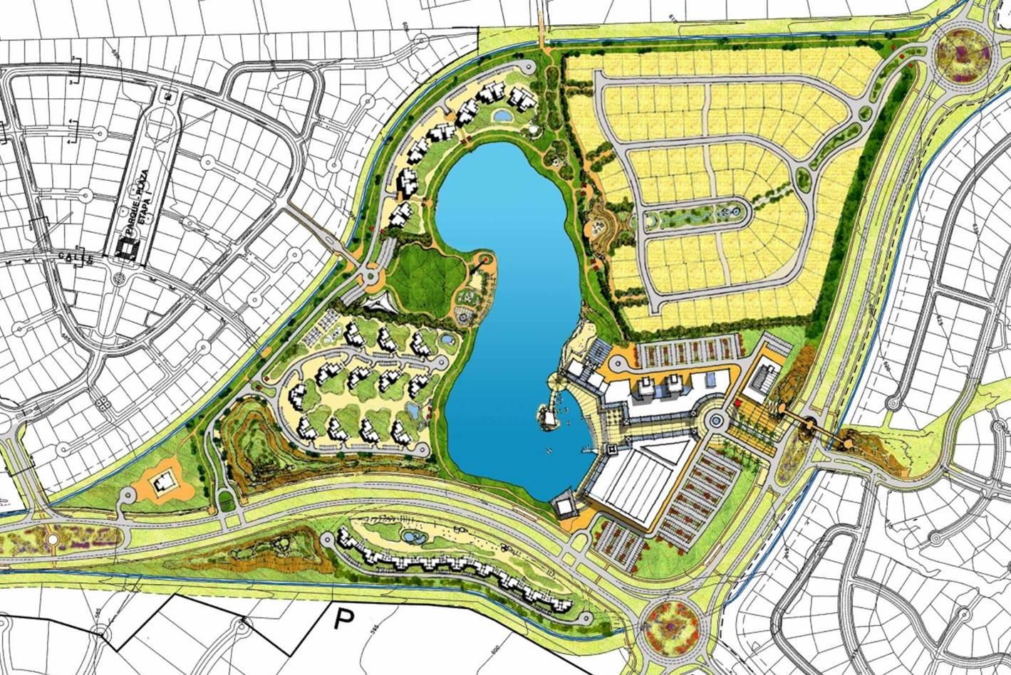 Plan maestro laguna piedra roja urbe for Plan de arquitectura